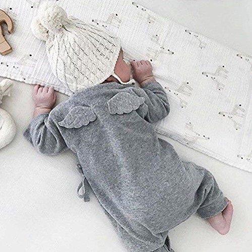 Bébés Jumpsuits , Chickwin 2pcs Bébés Fille Garçon Ensemble Barboteuse Manche Longue Jumpsuits vetement bebe (100, 18-24 mois)