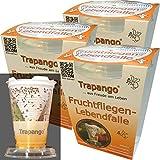 3x Fruchtfliegen-Lebendfalle Trapango, (3er-Pack)