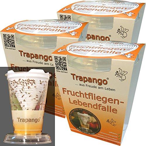 3x Fruchtfliegen-Lebendfalle Trapango®