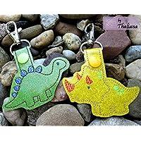 2er Set Schlüsselanhänger Dinos Dinosaurier Anhänger für Kindergartentasche Schulranzen Adventskalender