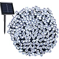 200 LED, 22 Mètres de Guirlande Lumière Solaire Imperméable, 8 Modes Lumière Extérieure Décorative, Pour Noël, Jardin, Fête, Vacances, Mariage, Soirée (blanc)