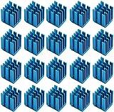 Easycargo 20 pezzi 3D stampante dissipatore Kit+ Nastro adesivo conduttivo termico, raffreddamento Dissipatore di calore Modulo driver motore passo a passo (9mmx9mmx12mm)