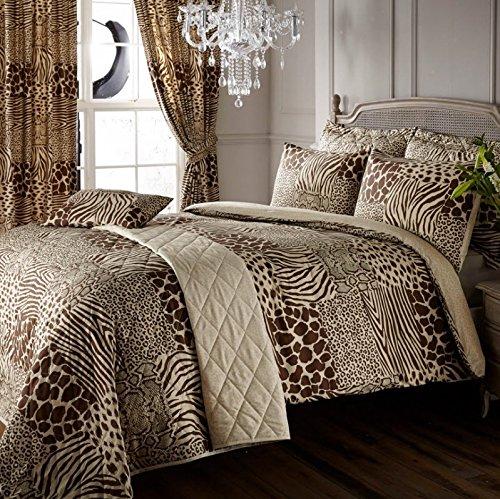 8pcs animal print king bed duvet cover curtains throwover bedding set kariba