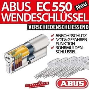 ABUS EC550 Cylindre de serrure avec 5 clés 30/35mm
