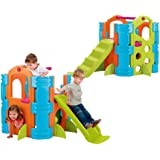 FEBER Activity Park - Centre d'activités avec toboggan pour enfants de 2 à 7 ans (Famosa 800009597)