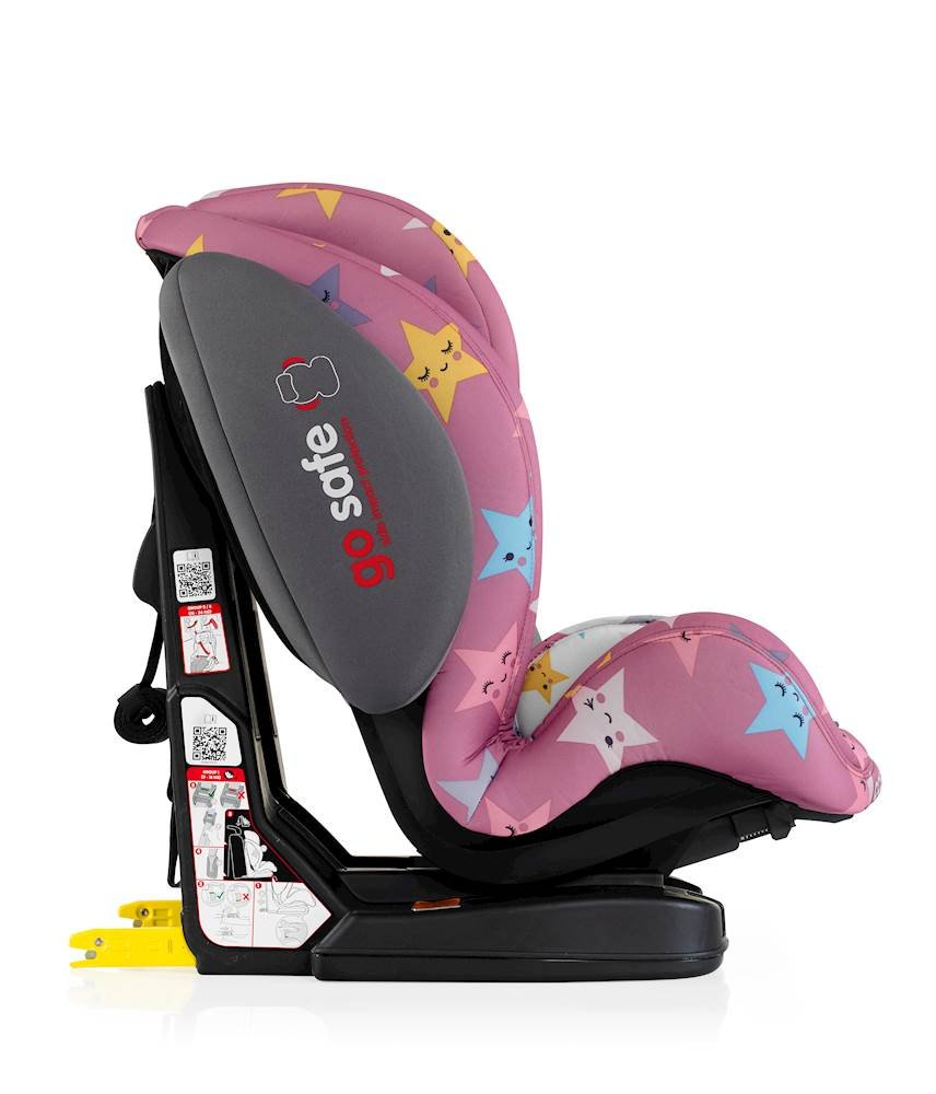 Cosatto Hug Isofix Car Seat Group 123, 9-36 kg, Happy Stars Cosatto Suitable from 9 kg-36 kg (9 months - 12 years approximatelyimately), Hug ISOFIX is an investment; it fits forward-facing in most cars with standard ISOFIX connectors and top tether anchor point The exclusive Five Point Plus Anti-Escape system deters determined wrigglers and diminishes driver distraction; it features extra-cushioned side impact protection for in-car security Impact protection for in-car security Hug ISOFIX has fabrics, a height-adjustable headrest and reclining padded seat for on-board comfort, plus easy-clean pop-off covers and liner to help you out 4