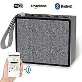 Mini Wireless Bluetooth Lautsprecher, Top Vigor tragbare IP66 Wasserdichte BT Lautsprecher, Voice Activated laute Musik Box mit Amazon Alexa, Multi-Room und Stream Online Musik, WIFI Stereo Airplay Lautsprecher