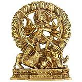 ShalinIndia Brass Goddess Devi Durga Maa Idol Statue (12-inch)