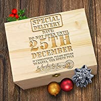 TWISTED ENVY Personalised Rustic Special Delivery Wooden Christmas Eve Box