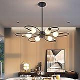 Ganeed 6-Light Sputnik Chandeliers, Modern Semi Flush Mount Ceiling Light Fixture, 60W Mid Century Metal Pendant Light Adjust
