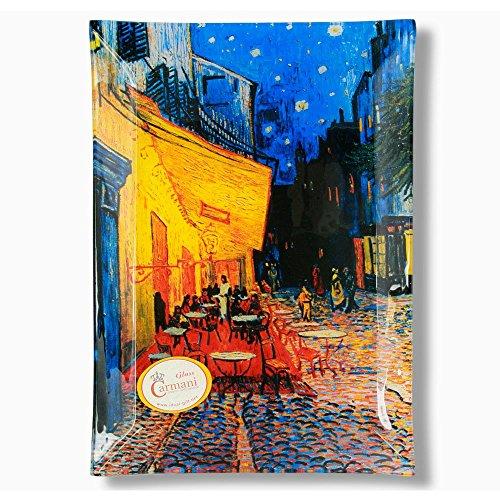 CARMANI - Plaque rectangulaire décoratif imprimé avec la peinture de Vincent Van Gogh 20x28cm