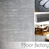 Alfombra moderna Kolibri gris argentado 140x200cm - alfombra pelo corto colorida y de fácil cuidado