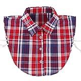 Yiye Damen Half Shirts Abnehmbar Halsbands Ersatz-Shirt Kragen Baumwolle