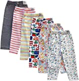 NammaBaby Printed Full Length Pajama/Pyjamas For Baby Boys And Baby Girls- Set Of 6 (9-12 Months)