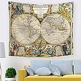 Paño de la Pared tapicería de Arte de exportación Colgante de Tela Dormitorio decoración Mapa del Mundo nórdico 211366 200 * 150 cm
