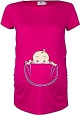 Happy Mama. Damen Baby in der Tasche T-Shirt Top Oberteil für Schwangere. 501p