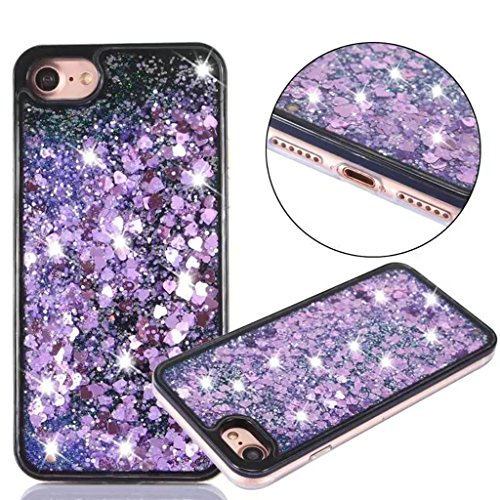 iPhone 6/6S Coque - 3D Design Créatif Prime Luxe Shine Flow Sand Adorable Flowing Flottant Mouvement Shine Glitter Sequins Bling Cute Pattern Téléphone Case pour iPhone 6/6S - Born to Shine 7-B