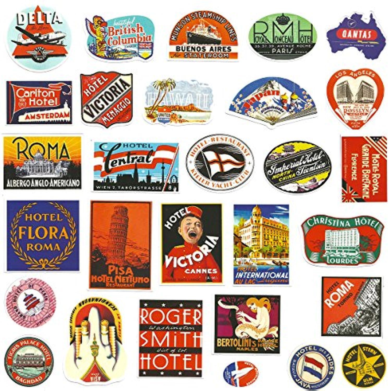 /Lot de 24/stickers Valise de voyage H/ôtel Vintage Stickers /étiquette bagage/