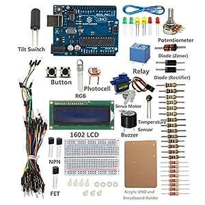 SunFounder Mega 2560 Project LCD Starter Kit For Arduino UNO R3 Mega2560 Mega328 Nano Raspberry Pi