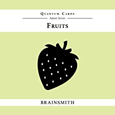 Brainsmith Quantum Cards – Fruits - Black and White Cards for Newborns – Newborn Baby - Vision Stimulation - Baby Brain Development - High Contrast Image Cards - Infant Flashcards – Early Learning – Infant Series - Visual Development – Baby Shower Gift (For children from 0 to 6 months - Eyesight Development)