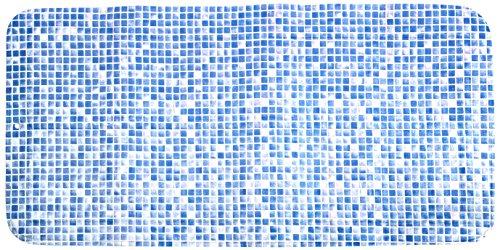 Croydex Blue Mosaic Slip-Resistant Bath Mat with Hygiene 'N' Clean