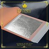 Barnabas Echtes Blattsilber Transfer, 95 X 95mm, 25 Blätter in Blattsammlung