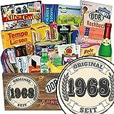 Original seit 1968 | Geschenkset Spezialitäten | Geschenkkorb | Original seit 1968 | DDR Geschenk | ausgefallene Geschenke Männer | Geschenke zum 50 Geburtstag Mann deko | inkl. DDR Kochbuch