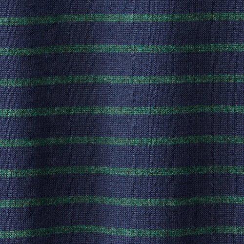 Castaluna For Men Mann Pullover, Knopfverschluss, Gestreift Marine/Grün