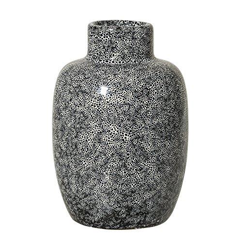 Bloomingville 75701749Blumenvase mit Zylinder Keramik schwarz, grau Jarron–Tischvase Blumenvase mit Zylinder, Keramik, Schwarz, Grau, 75mm, 75mm, 110mm