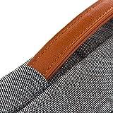 deleyCON Notebook-Tasche Macbook Laptop bis 17″ (43,2cm) Schutztasche aus robustem Nylon 2 Zubehörfächer verstärkte Polsterwände – Grau/Braun - 5