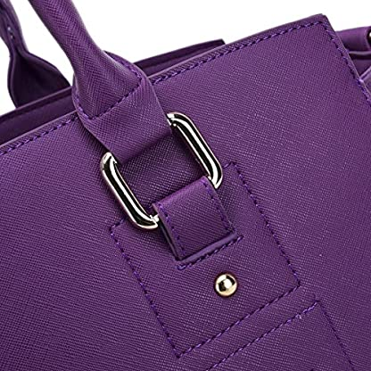 YiHao Dog Carriers Airline Approve Portable Convenient Lightweight Outdoor Travel Pet Carrier Handbag 8009 (Purple) 3