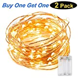 Led String Lights, KEFU 3-Meters 30 LEDS Star Starry Copper Wire Fairy String Lights For Holiday Party Wedding Christams Decoration (yellow)