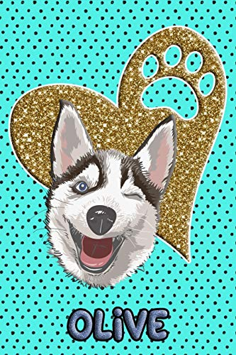 Husky Life Olive: College Ruled   Composition Book   Diary   Lined Journal   Blue Husky Olive