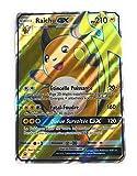 Carte pokemon Promo Full Art RAICHU GX 210 PV en version française avec double protège-cartes