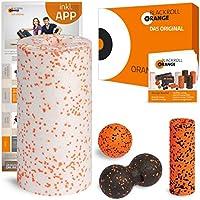 Preisvergleich für blackroll-orange ORANGE-BOX MED - Faszienrolle MED, Massageball, Duoball Twinball-Orange und MINI Massagerolle als Selbstmassage Set in der ORANGE-BOX. Qualität Made in Germany.