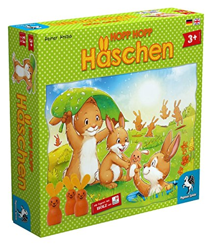 Pegasus Spiele 66005G - Hopp Hopp Häschen (Das Häschen-spiel)