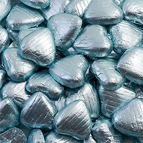 light-blue-foil-wrapped-milk-chocolate-hearts-wedding-party-table-favour-100-pk