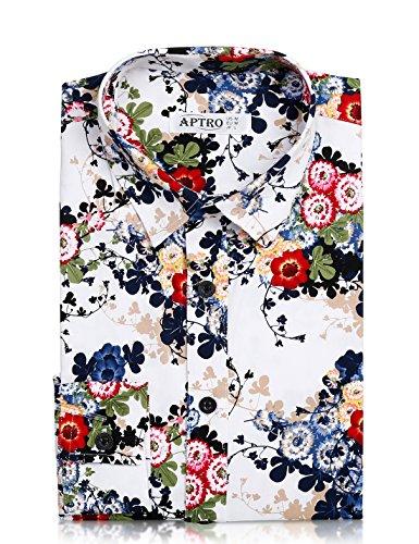 APTRO Herren Freizeit Mercerisierte Baumwolle Mehrfarbig Langarm Shirt Größe XS-XXXL