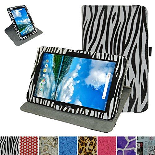 Verizon Ellipsis 10rotierenden Fall, Mama Mouth 360Grad Rotary mit Ständer Cute Lovely Muster Cover für 25,7cm Verizon Ellipsis 10Android Tablet, Zebra Schwarz Verizon Zebra