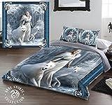 Winter Guardians Doppelbett Bettbezug und Kissenbezüge Bettwäsche Set Artwork von Anne Stokes