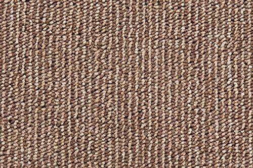 Teppichboden Schlingentextur Kurzflor Auslegware Bodenbelag beige 350 x 400 cm. Weitere Farben und Größen verfügbar