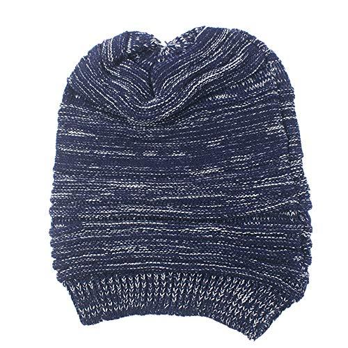 YWLINK Herren WintermüTze StrickmüTze WollmüTze Beanie Crochet Hat Ski Knit Warm Cap Pfahlkappe(Einheitsgröße,Marine)