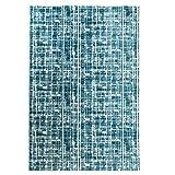 carpet city Teppich Polyester Flachflor Hochwertig Modern Blau/Türkis Hell-/Dunkel-Effekt Größe 160/230 cm