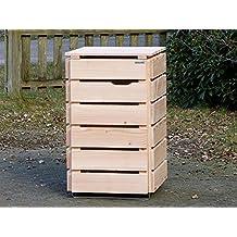 1er Mülltonnenbox / Mülltonnenverkleidung 240 L Holz, Douglasie Natur