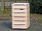 1er Mülltonnenbox / Mülltonnenverkleidung 120 L Holz, Douglasie Natur