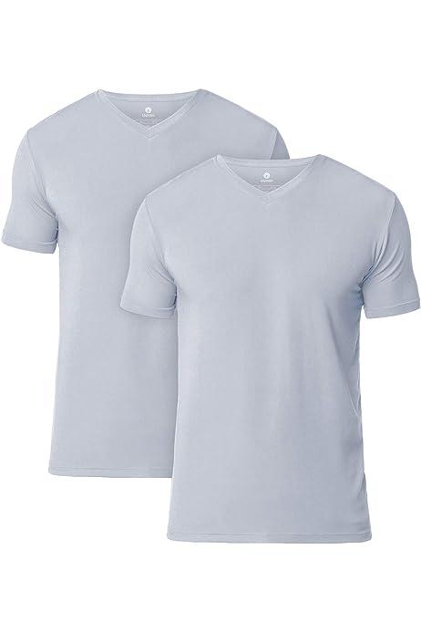 LAPASA Pack de 2 Camisetas Hombre de Algodón ELS Manga Corta Camiseta Interior M05/M06: Amazon.es: Ropa y accesorios