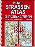 Neuer Straßenatlas Deutschland/Europa 2019/2020: Deutschland 1 : 300 000 . Europa 1 : 3 000 000