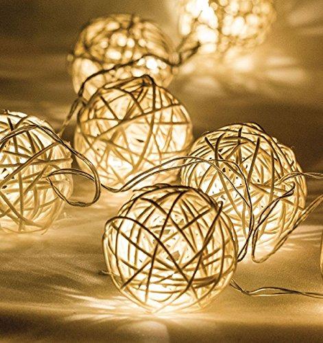 Ex-Pro® LED-Lichterkette, batteriebetrieben, Ambient warm weiß LEDs. Schlafzimmer/LIVING Dekorative Beleuchtung.