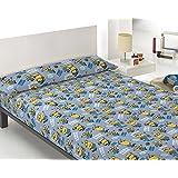 Juego de Sábanas 3 Piezas Tela RÉPLICA MINIONS ( Para camas de 90 y 105 ) Bed Sheets (Cama 90x190+23)