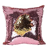 Best Throw Pillows - LilyPin Satin Stylish Sequin Mermaid Throw Pillow Cover Review